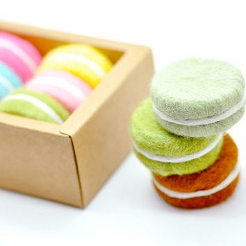B20 Felt Macaron Soap Box Set of 6. Cold-Process Soap.