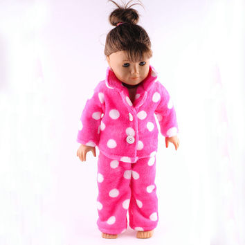 "1set=pants+coat pajamas fashion clothes American girl doll clothes fits for 18"" american girl doll alexander doll best gift"
