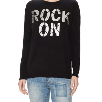 Autumn Cashmere Women's Rock On Boyfriend Cashmere Sweater - Black