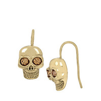 SKELETONS AFTER DARK SKULL DROP EARRINGS: Betsey Johnson