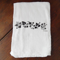 Pyrex Gooseberry - Black - Kitchen Towel - Flour Sack Towel - Handmade