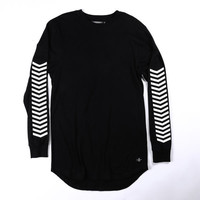 Threadworkshop - 3M Reflective L/S Tail Tee - Black
