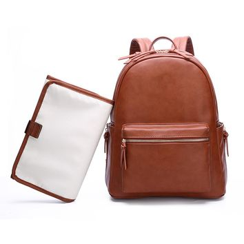 Cognac Diaper Bag Backpack