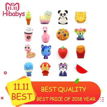 Children Squeeze Toy Cartoon Animal Unicorn Squishy Toy Slow Rising Stress Relief Gadget Gift Kids Kawaii Squeeze Antistress Toy