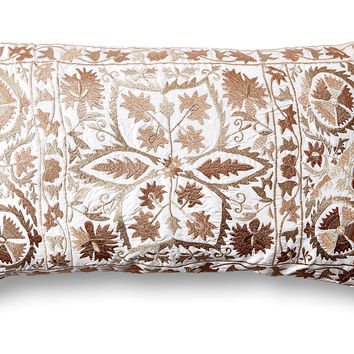 Vallejo Suzani 14x24 Pillow, Neutral, Decorative Pillows