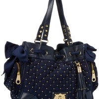 Juicy Couture Upscale Quilted Daydreamer YHRU3363 Shoulder Bag,Royal Navy,One Size