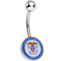 United States Navy Belly Ring | Body Candy Body Jewelry