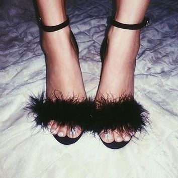 Faux Fur High Heels