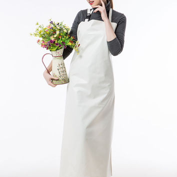 Long Apron Practical Unisex Adult Outsides Working Cleaning Apron PU Waterproof