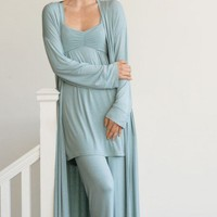 VivaTerra - BambooWeave Pajama Sets and Long Robe - VivaTerra