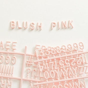 Blush Pink 290 Character Helvetica Sprue Letter Set for Felt Letter Boards