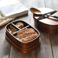 Japanese Style Natural Wood Lunch Boxs With Bag