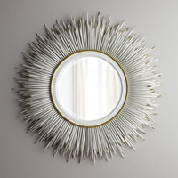 "White ""Porcupine Quill"" Mirror - Janice Minor"