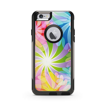 Hippy Rainbow Floral Print Skin for the Apple iPhone Otterbox Commuter Case