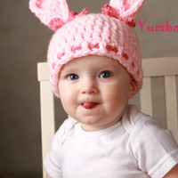 Pink Bunny Hat for Easter!