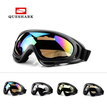 Queshark HIgh Quality Winter Outdoor Sports Windproof Skiing Glasses Goggles UV400 Dustproof  Ski Sunglasses Cycling Eyewear