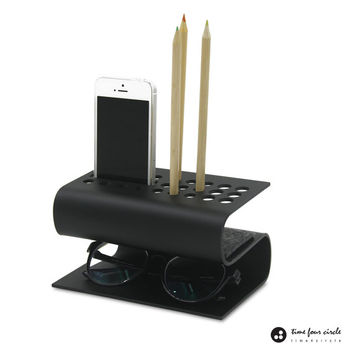 Organizer Desk System, Modern And Minimalist, iPhone 5, 5C, 5S stand, iPhone6, 6Plus stand, Pen Holder, Pencil Holder