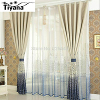 Modern brief curtain finished blind sheer curtain for bedroom tulle +blackout kids bedroom tulle cortina