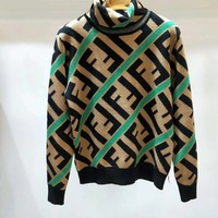 FENDI FF High neck Knit Pullover Sweater