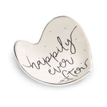"""Happily Ever After"" Trinket Dish By Mud Pie"
