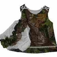 Mossy Oak Dress Baby Girls Camo Jumper W Ruffle Panty Made in USA (12 Mo MO)