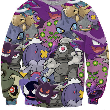 Ghost Pokemon Crewneck Sweatshirt