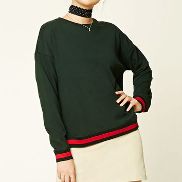 French Terry Knit Varsity Top