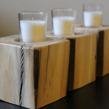 Timber Centerpiece Candle Block for Votives or Tealights