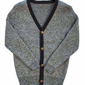 Little Cocoon Black and White Patch Cardigan