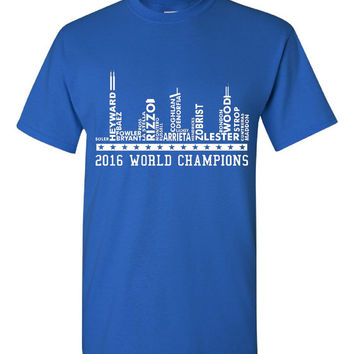 Cubs Fans Championship World Series Skyline T Shirt Great Gift For Cubs Fans Champions 1908- 2016 Cubs Tees