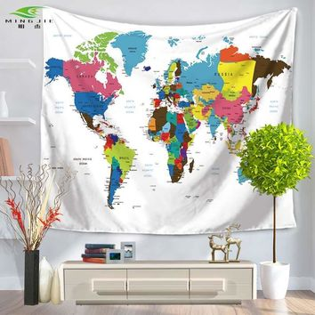 Wall Tapestries World Map Tapestry Blanket