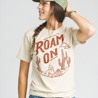 Roam On Unisex Tee | Sandstone