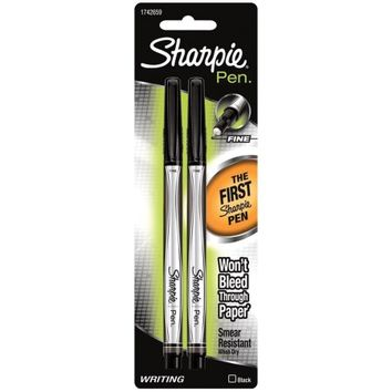 Sharpie Fine Point Writing Pens 2/Pkg Black - Walmart.com