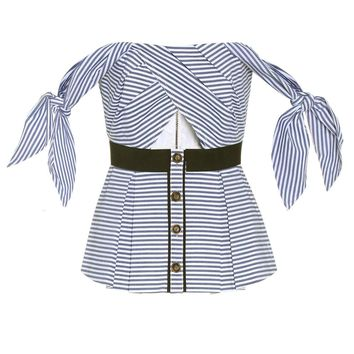 Stripe Shirting Tie cotton top