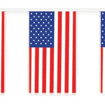 Outdoor American Flag Banner for Halloween