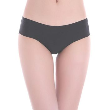 Best Selling Hit Color Everyday 1PC Women High Quality Invisible Underwear Thong Cotton Spandex Gas Seamless Crotch##
