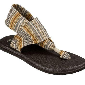 DCCKAB3 Sanuk Yoga Sling 2 Prints Natural Bayridge Blanket Sandals
