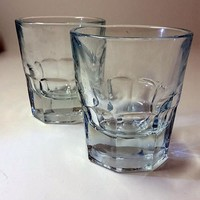 Thumbprint Double Shot Glasses  S/2