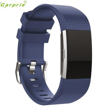 Hot-sale CARPRIE Smart Watch Clock Smart Bands Replacement Men's Watch Sports Silicone Bracelet Strap Band For Fitbit Charge 2