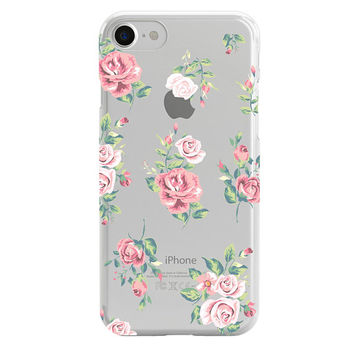 Flower Phone Case, iPhone X Case, iPhone 8 Plus Case, iPhone 7 Case, iPhone 8 Case, clear case, iPhone 6 case, iPhone 5 case, Samsung case
