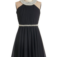 ModCloth Mid-length Sleeveless A-line Marvel at the Moon Dress