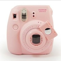 [Fujifilm Instax Mini 7s Mini 8 Selfie Lens] -- CAIUL Camera Style Instax Close Up Lens with Self-portrait Mirror For Fujifilm Instax Mini 8 mini 7s Camera and Polaroid 300 (Pink)