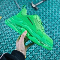 Balenciaga Triple S Clear Sole Trainers Sneakers Apple Green With Air Bubble - Best Online Sale