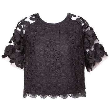In Bloom Lace Crop Top