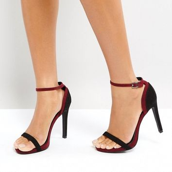 New Look Two Part Contrast Heeled Sandal at asos.com