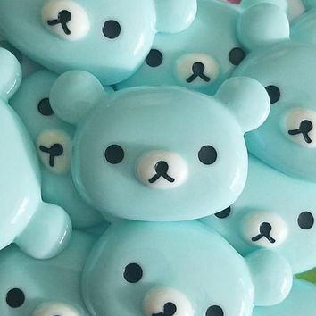 39mm blue BEAR resin cabochon flatback adorable decoden phone case supply accessories kawaii jewelry phone case embellishment