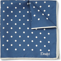 Kingsman - Drake's Polka-Dot Silk-Twill Pocket Square | MR PORTER