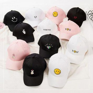DCCKWJ7 korean Female baseball cap harajuku hats summer pink Dad Hat white polo caps 2017 girls youth caps baseball hats for women style