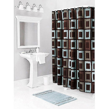 Walmart: Better Homes and Gardens Gridlock Decorative Bath Collection - Shower Curtain