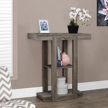 """I 2456 Dark Taupe Reclaimed-Look 32""""L Hall Console Accent Table"""